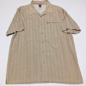 The north face striped short sleeve button shirt